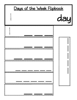 Days of the Week Flipbook/Foldable
