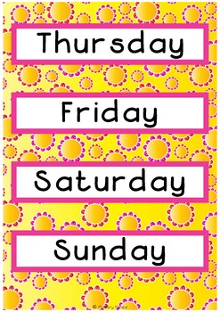 Days of the Week - Flower Theme