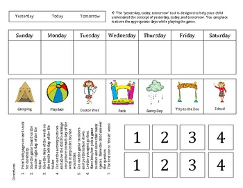Days of the Week Folder Game