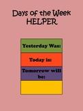 Days of the Week HELPER