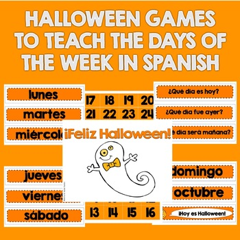 Days of the Week Halloween Games {Spanish}