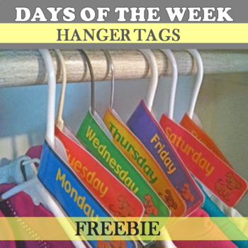 Days of the Week Hanger Tags