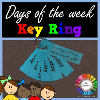Days of the Week Key Ring