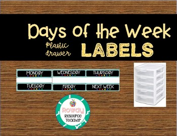 Days of the Week LARGE Labels