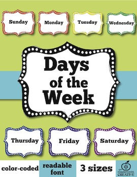 Days of the Week Labels (3 sizes)
