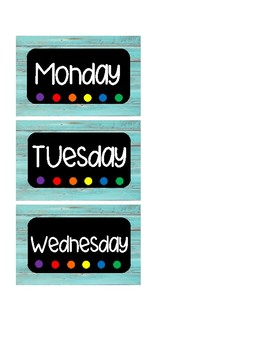 Days of the Week  SMALL Labels