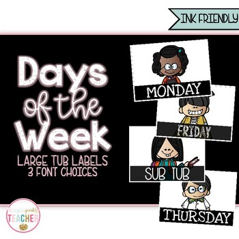Days of the Week Labels {Ink Friendly}