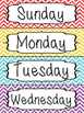 Days of the Week Calendar Labels - Chevron