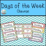 Days of the Week Calendar Labels - Chevron