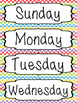 Days of the Week Labels - Chevron