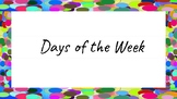 Days of the Week Labels (Confetti)