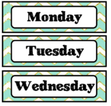Days of the Week Labels EDITABLE