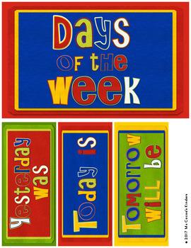 Days of the Week Labels - Felt