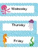 Days of the Week Labels Fish Theme