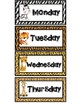 Days of the Week Labels - Jungle Safari Theme