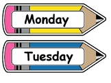 Days of the Week Labels (M-F)