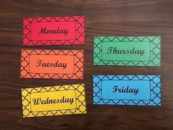Days of the Week Labels ~ Organization