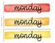 Days of the Week Labels Watercolor Bundle