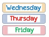 Days of the Week Labels and Borders