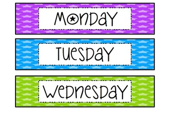 Days of the Week Labels {EDITABLE}