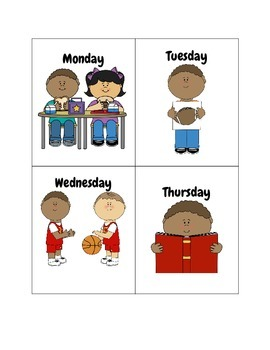 Days of the Week Language Cards