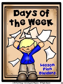 Days of the Week Lesson Plan Dividers - #2
