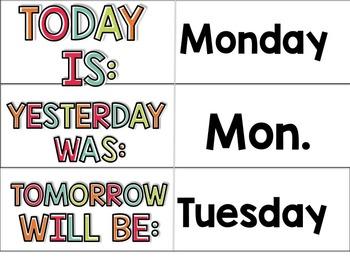 Days of the Week Lightbox Slide Design