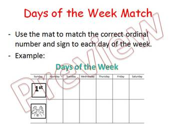 Days of the Week Match