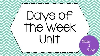 Days of the Week Match for Lifeskills or Autism Classroom