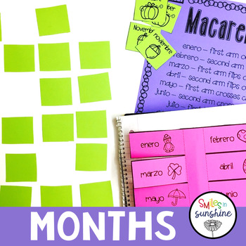 Days of the Week, Months, Seasons in Spanish: games, interactive notebooks