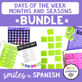 Days of the Week, Months, Seasons in Spanish: games, inter