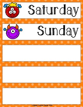 Days of the Week & Months of the Year FREEBIE!