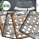 Days of the Week & Months of the Year POSTERS {Farmhouse Decor}