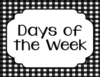 Days of the Week, Months of the Year, Posters, Word Wall, Anchor Chart