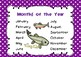 Days of the Week - Months of the Year Salmon