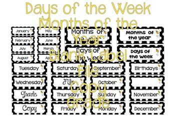 Days of the Week, Months of the Year and More!