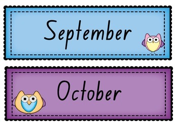 Days of the Week ~ Months of the Year in FOUNDATION font POSTER display