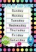 Days of the Week & Months of the Year posters with dotted lines