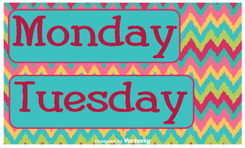 Days of the Week - Multi-colored Chevron