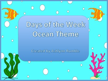 Days of the Week Ocean Theme