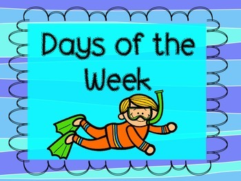 Days of the Week Ocean Themed