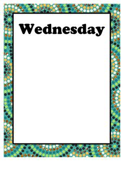 Days of the Week Organiser