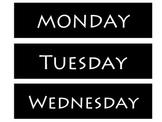 Days of the Week Organization Labels- Freebie