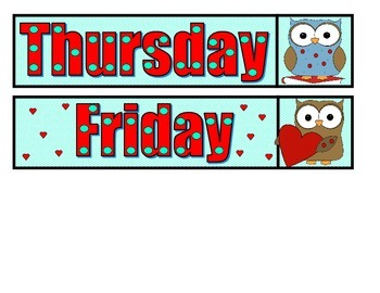 Days of the Week - Owl