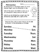 Days of the Week Activity Packet