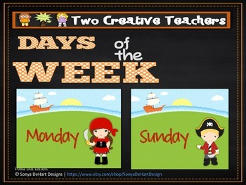 Days of the Week Pirate Theme 2