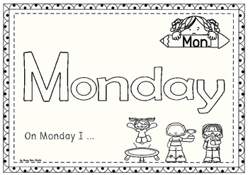 Days of the Week: Play-Doh Mats and Tracing Cards