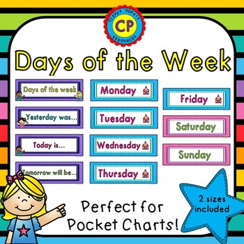 Days of the Week Pocket Chart Cards