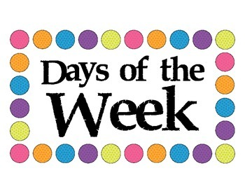 Days of the Week Polka Dot Birds