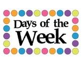 Days of the Week Polka Dot Birds